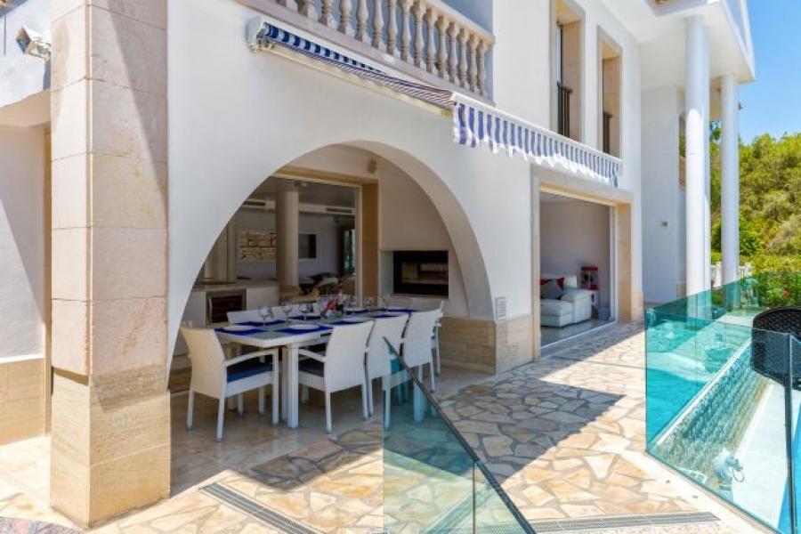 Villa terrace in mallorca holiday villa
