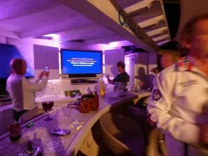 singing at Ocean View karaoke bar