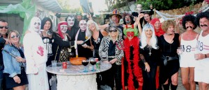hallowean party at villa ocean view mallorca