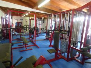 gym at mallorca holiday villa
